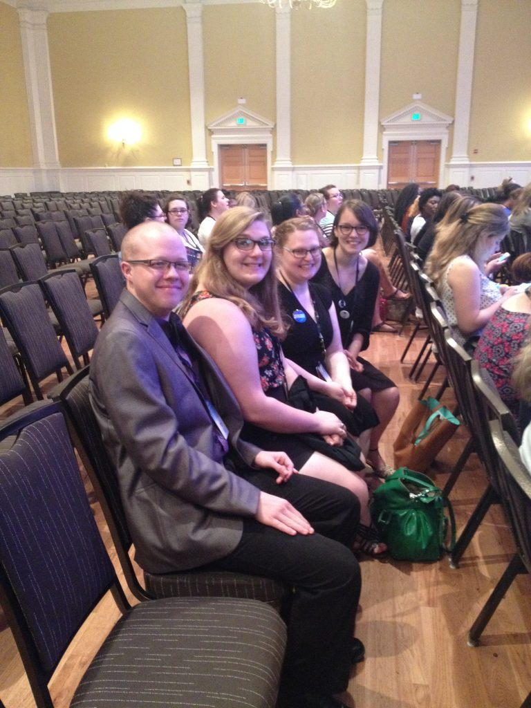 AAUW student affialiates from Lock Haven University attend NCCWSL, 2016.